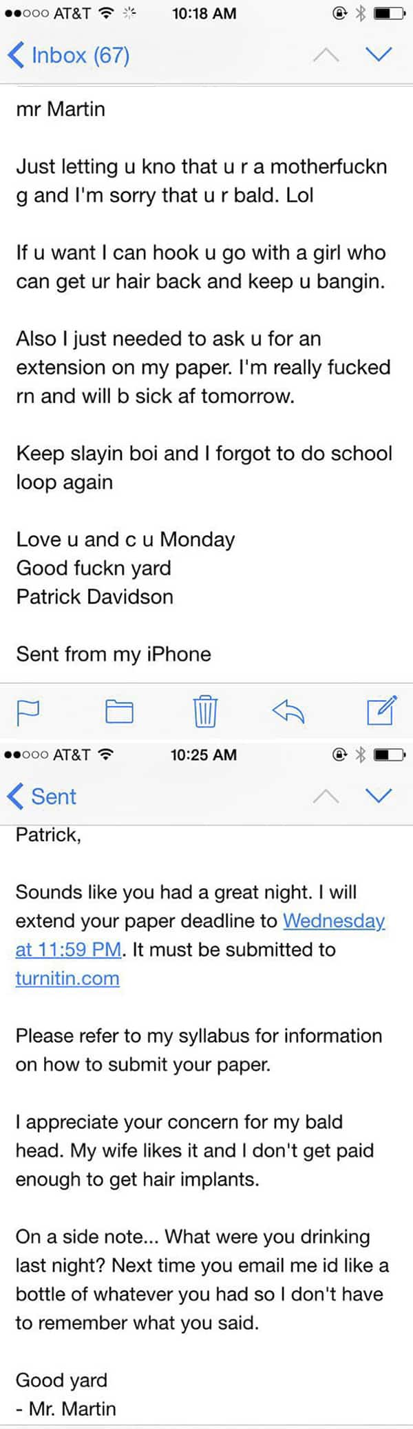 Email And Text Fails drunk