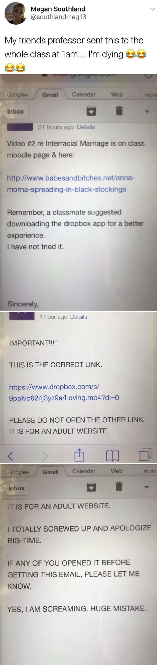 Email And Text Fails huge mistake