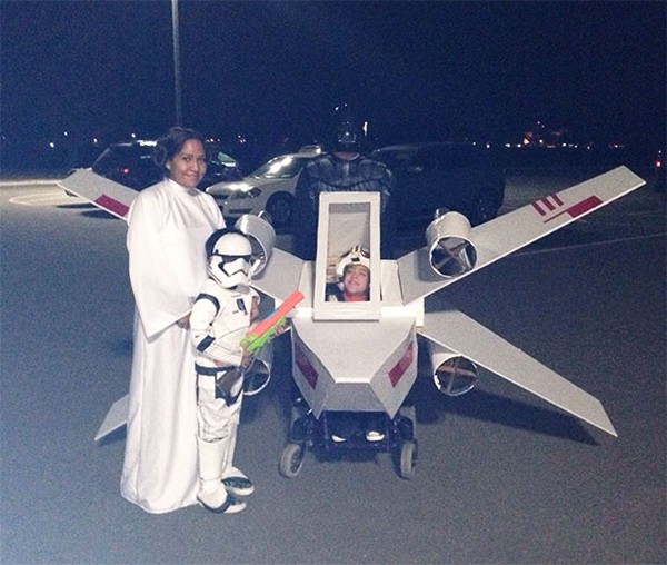 Family Halloween Costumes x wing costume