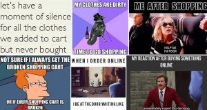 Images Showing The Struggles Of Shopping And Sales
