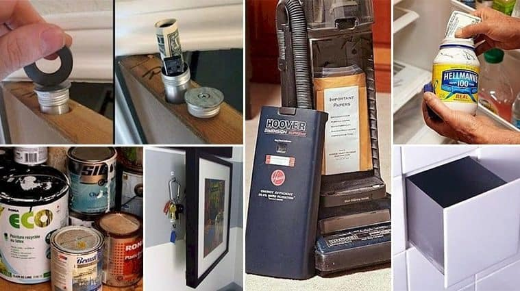 Ingenious Hiding Places To Keep Your Valuables Safe