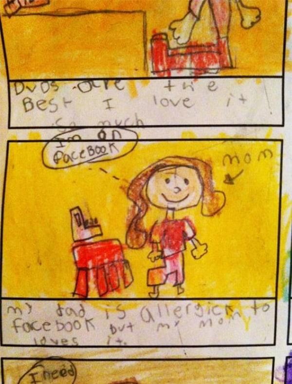 Kids Drawings Embarrassed Parents facebook