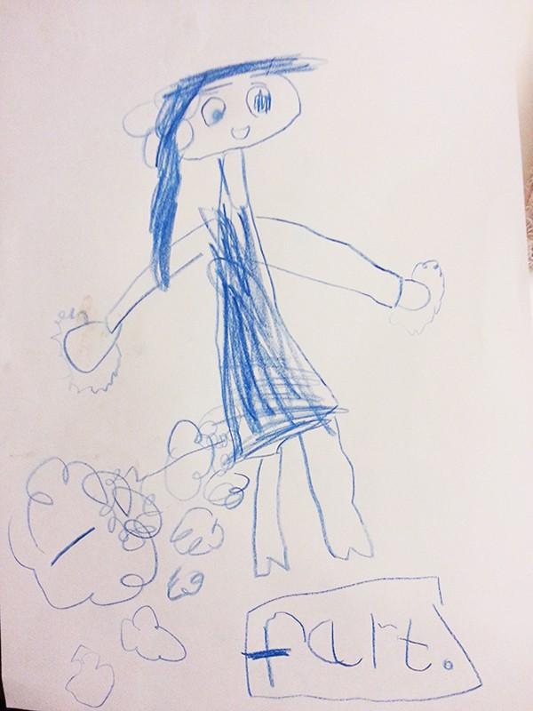 Kids Drawings Embarrassed Parents fart