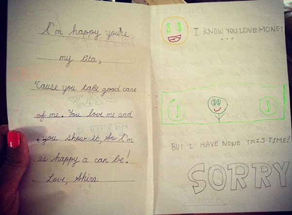 Kids Drawings Embarrassed Parents love money