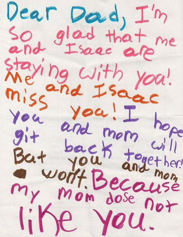 Kids Drawings Embarrassed Parents mom dose not like you