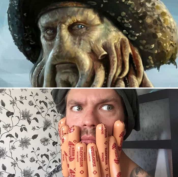 Low Cost Cosplays Household Objects davy jones