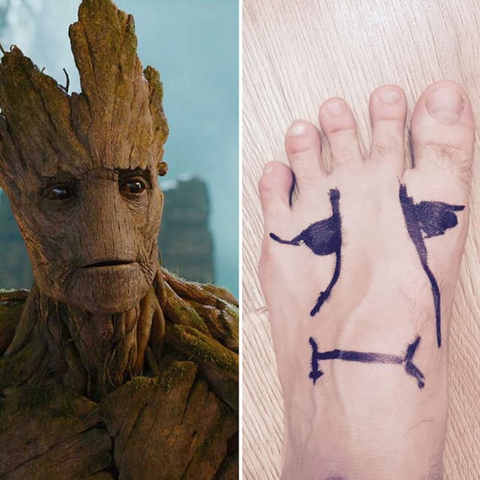 Low Cost Cosplays Household Objects foot