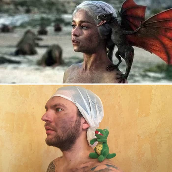 Low Cost Cosplays Household Objects mother of dragons