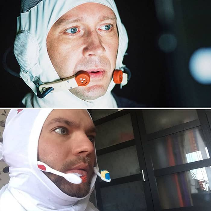 Low Cost Cosplays Household Objects spacewalker