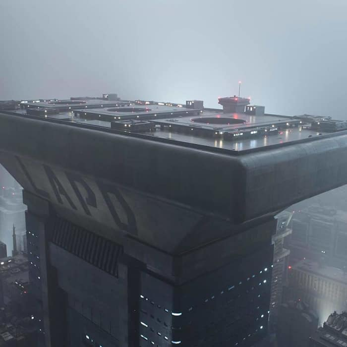 Miniature Film Sets Blade Runner 2049 lapd skyscraper