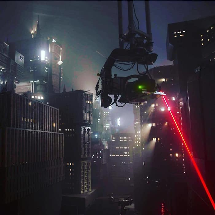 Miniature Film Sets Blade Runner 2049 laser