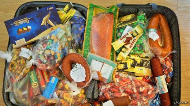 Moms Make Everything Better food suitcase
