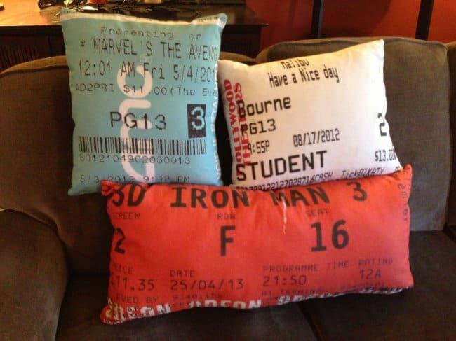 Moms Make Everything Better ticket stub pillows