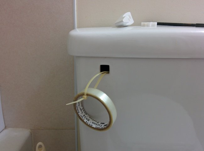 Natural Born Engineers toilet handle