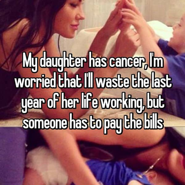 Parents With Children Who Have Cancer someone has to pay the bills