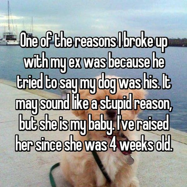 Secret Reasons People Dumped Their Partners dog was his