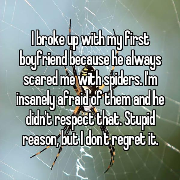 Secret Reasons People Dumped Their Partners spiders