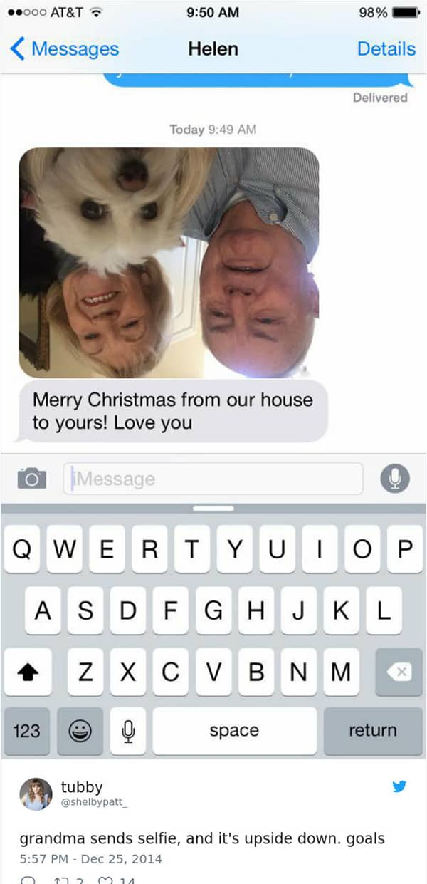 Texts From Grandparents merry christmas