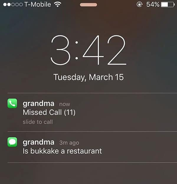Texts From Grandparents missed call 11