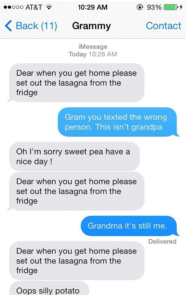 Texts From Grandparents opps silly potato