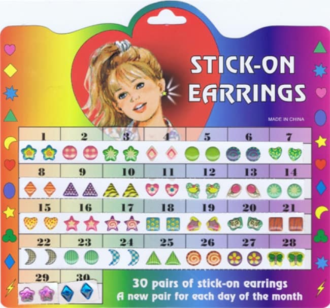 Things From The 90's stick on earrings