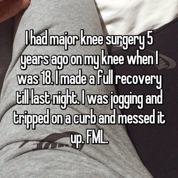 Things That Happened To Women Jogging knee surgery