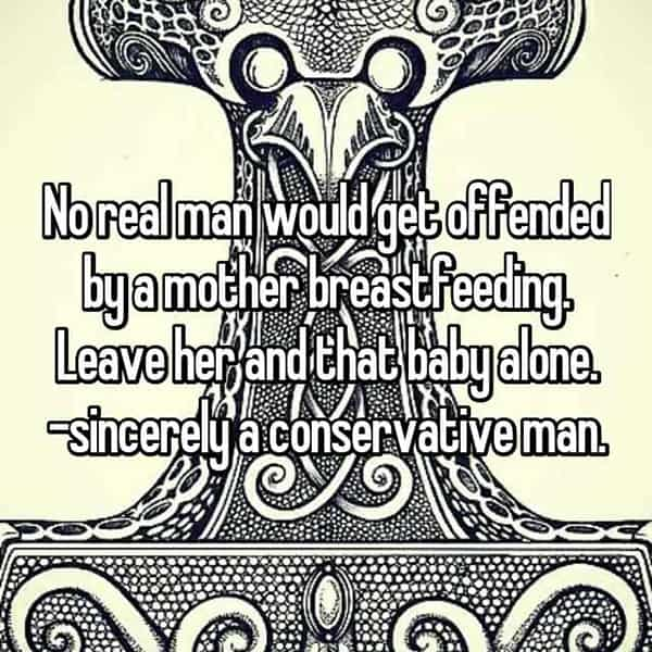 Thoughts On Breastfeeding men conservative man