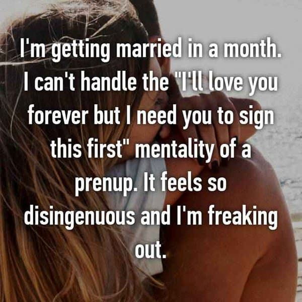 Thoughts On Prenuptial Agreements freaking out
