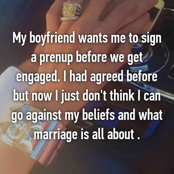 Thoughts On Prenuptial Agreements i had agreed