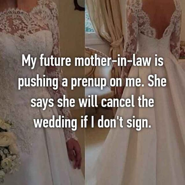 Thoughts On Prenuptial Agreements mother in law