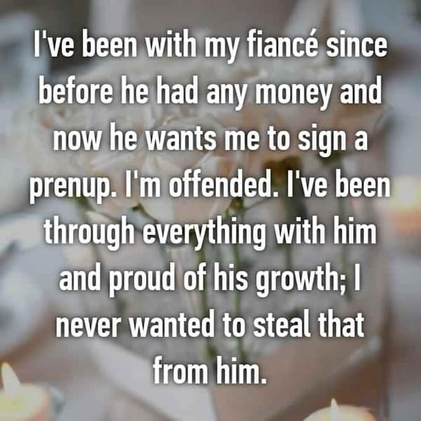 Thoughts On Prenuptial Agreements proud of his growth