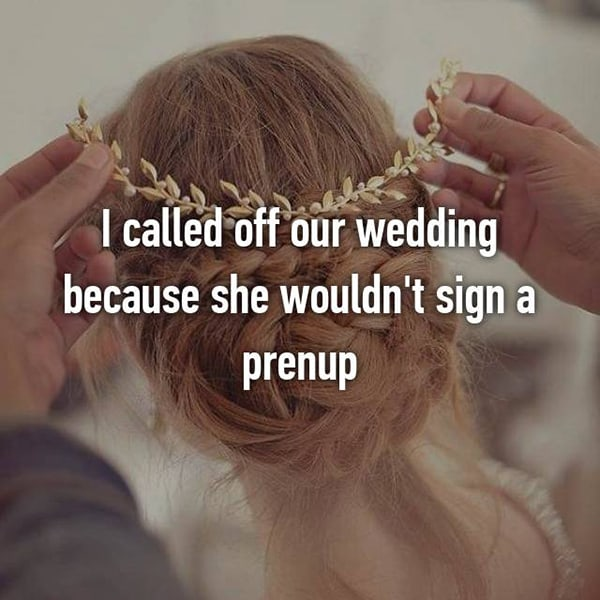 Thoughts On Prenuptial Agreements she wouldnt sign