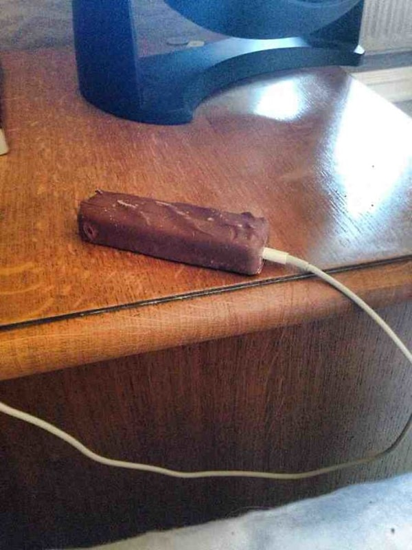 Times Drinking Did Not End Well charging chocolate bar