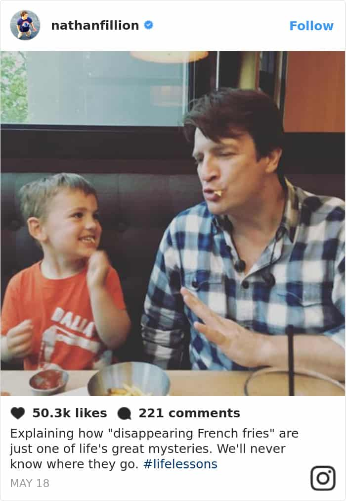 Tweets By Nathan Fillion disappearing french fries