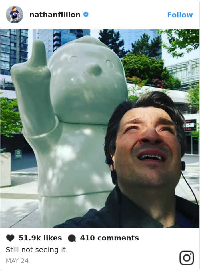 Tweets By Nathan Fillion still not seeing it