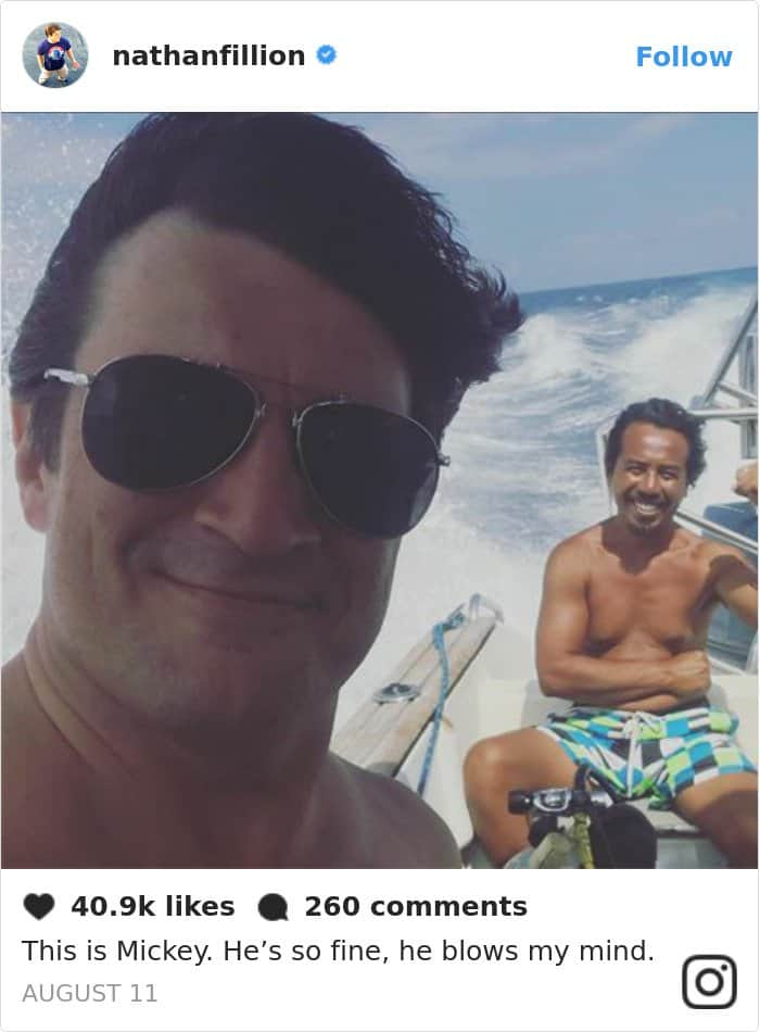 Tweets By Nathan Fillion this is mickey