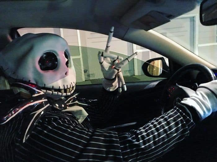 Uber Drivers Surprised Their Customers dressed for halloween