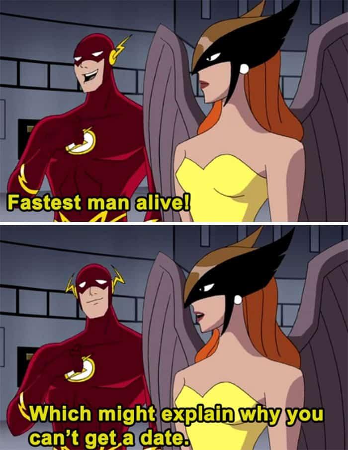 Adult Jokes Hidden In Cartoons fastest man alive