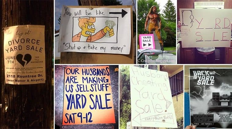 Awesome Yard Sale Signs To Make You Want To Buy People's Junk