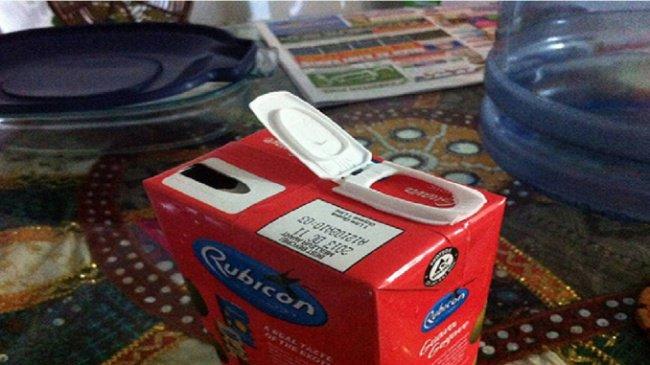 Awful Day At Work juice carton fail