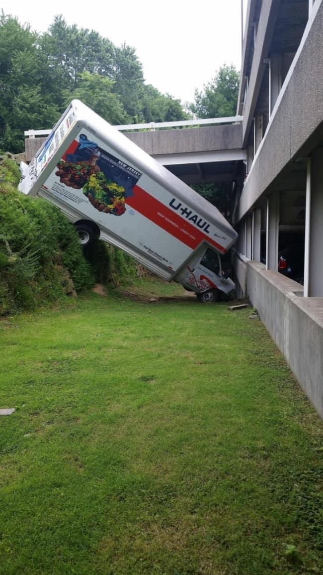 Awful Day At Work van crash