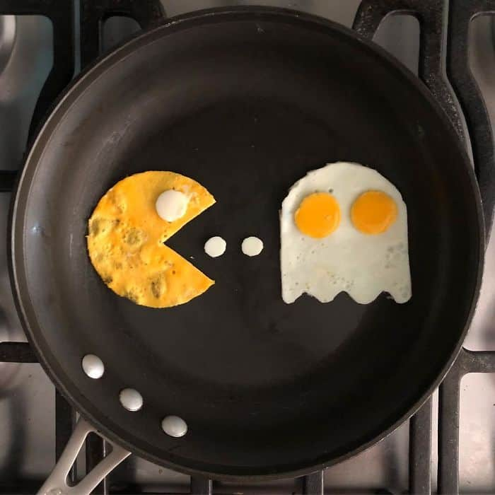 Breakfast Eggs Into Works Of Art pacman