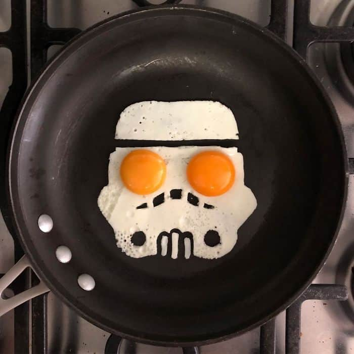 Breakfast Eggs Into Works Of Art stormtrooper