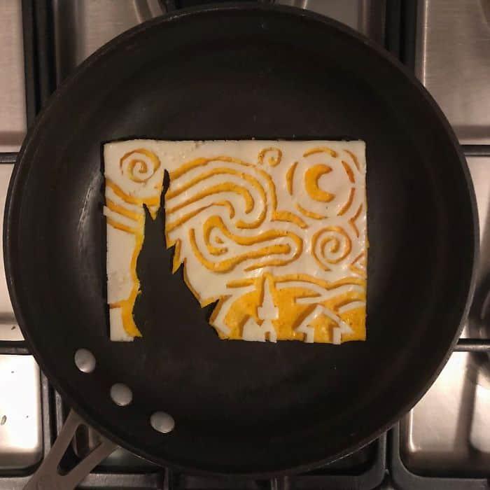 Breakfast Eggs Into Works Of Art van gogh