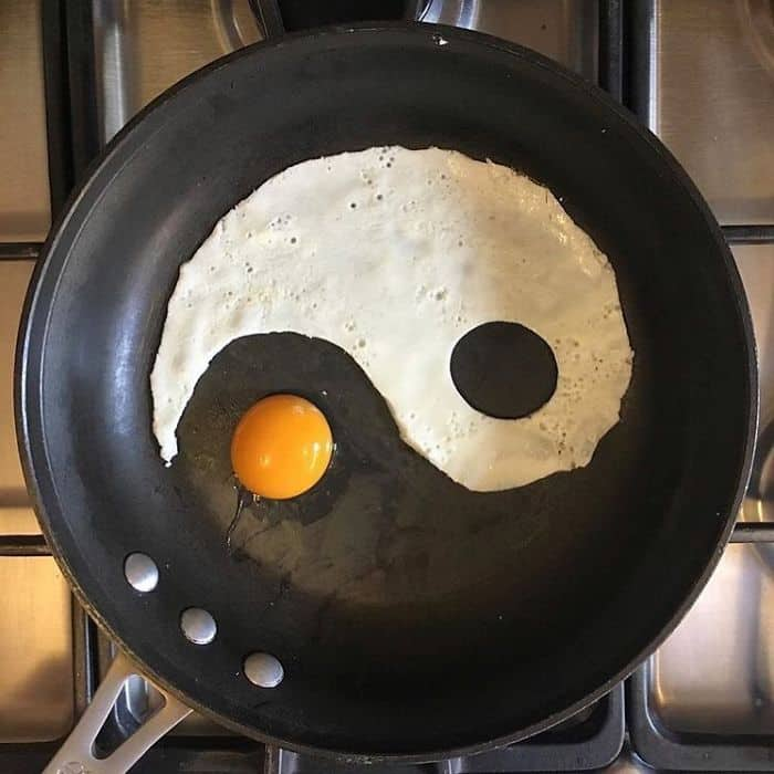 Breakfast Eggs Into Works Of Art yin yan