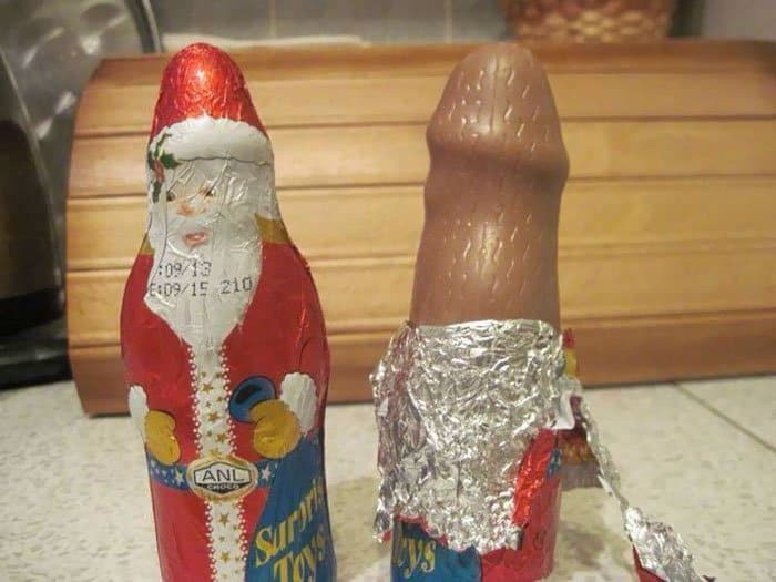 Christmas Design Fails chocolate fail