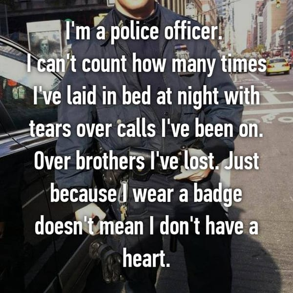 Confessions From Police Officers cried