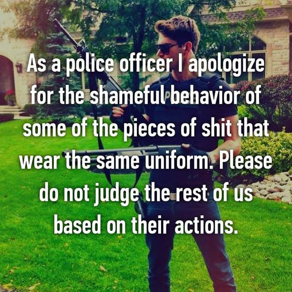 Confessions From Police Officers shameful behaviour