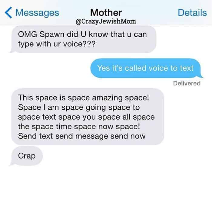Crazy Jewish Mom Messages voice text
