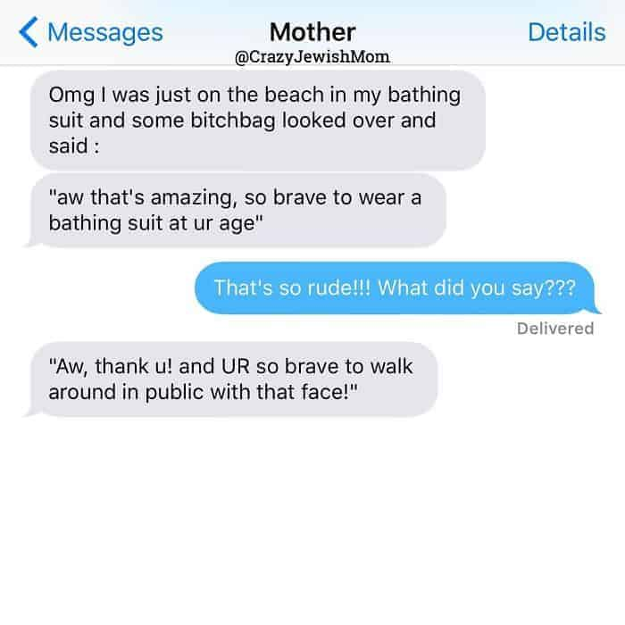 Crazy Jewish Mom Messages youre so brave
